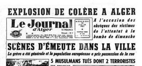 Alger le journal d'alger 1957