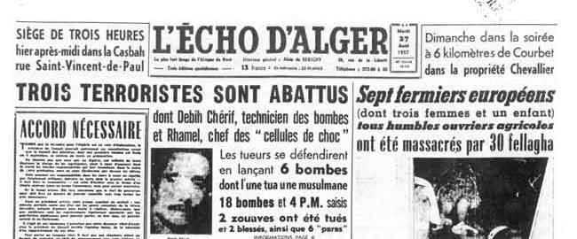 Alger journal echo d'alger 1957