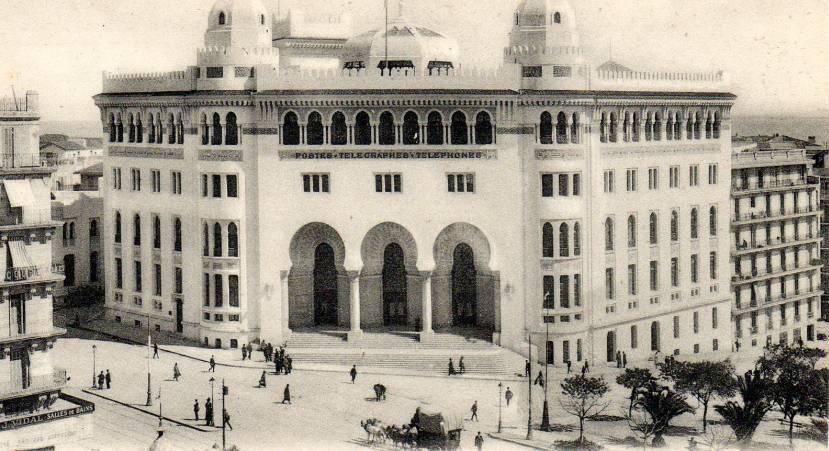 Alger la grande poste l hôtel des postes constituait un repère
